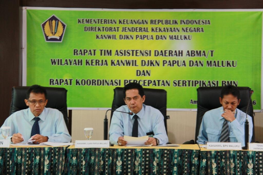 Rapat Kerja Penyelesaian ABMA/T Wilayah XVII Jayapura