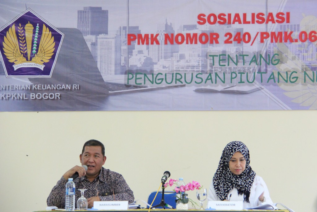 Sosialisasi PMK Pengurusan Piutang Negara di KPKNL Bogor
