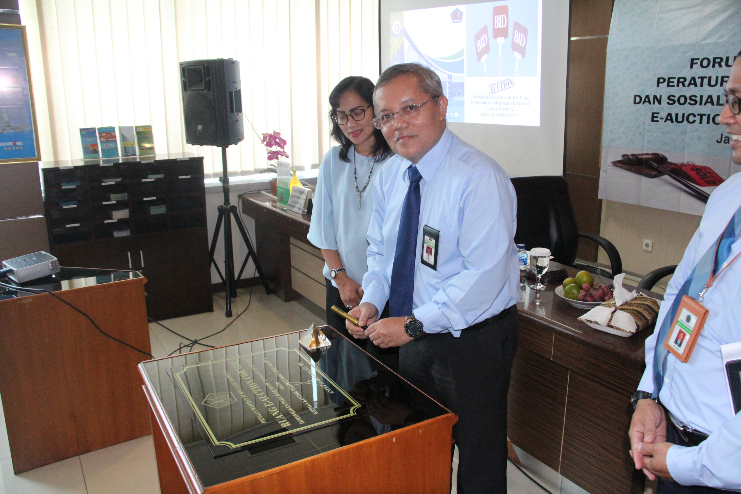 Peresmian e-Auction Corner Pertama di DKI Jakarta