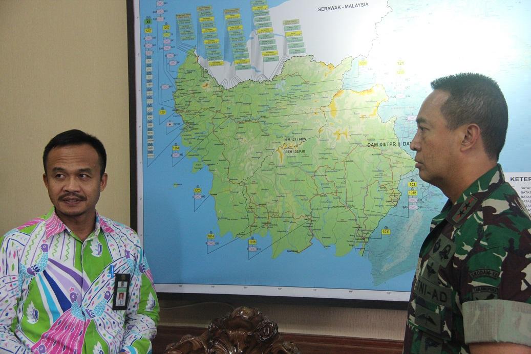 Kunjungan Kepala Kanwil DJKN Kalbar ke Pangdam XII Tanjungpura
