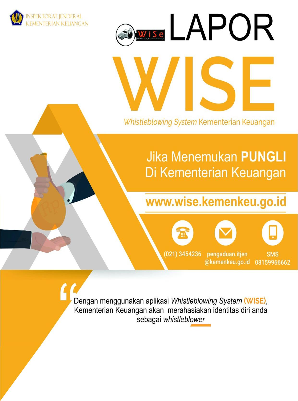 Lapor WISE (Whistleblowing System Kementerian Keuangan)