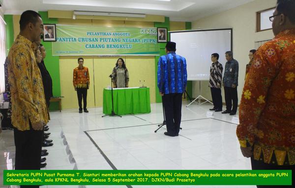 Lantik Anggota PUPN, Purnama T. Sianturi Sampaikan Pesan Khusus