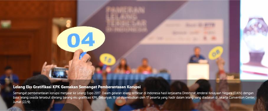 Lelang Eks Gratifikasi KPK Gemakan Semangat Pemberantasan Korupsi