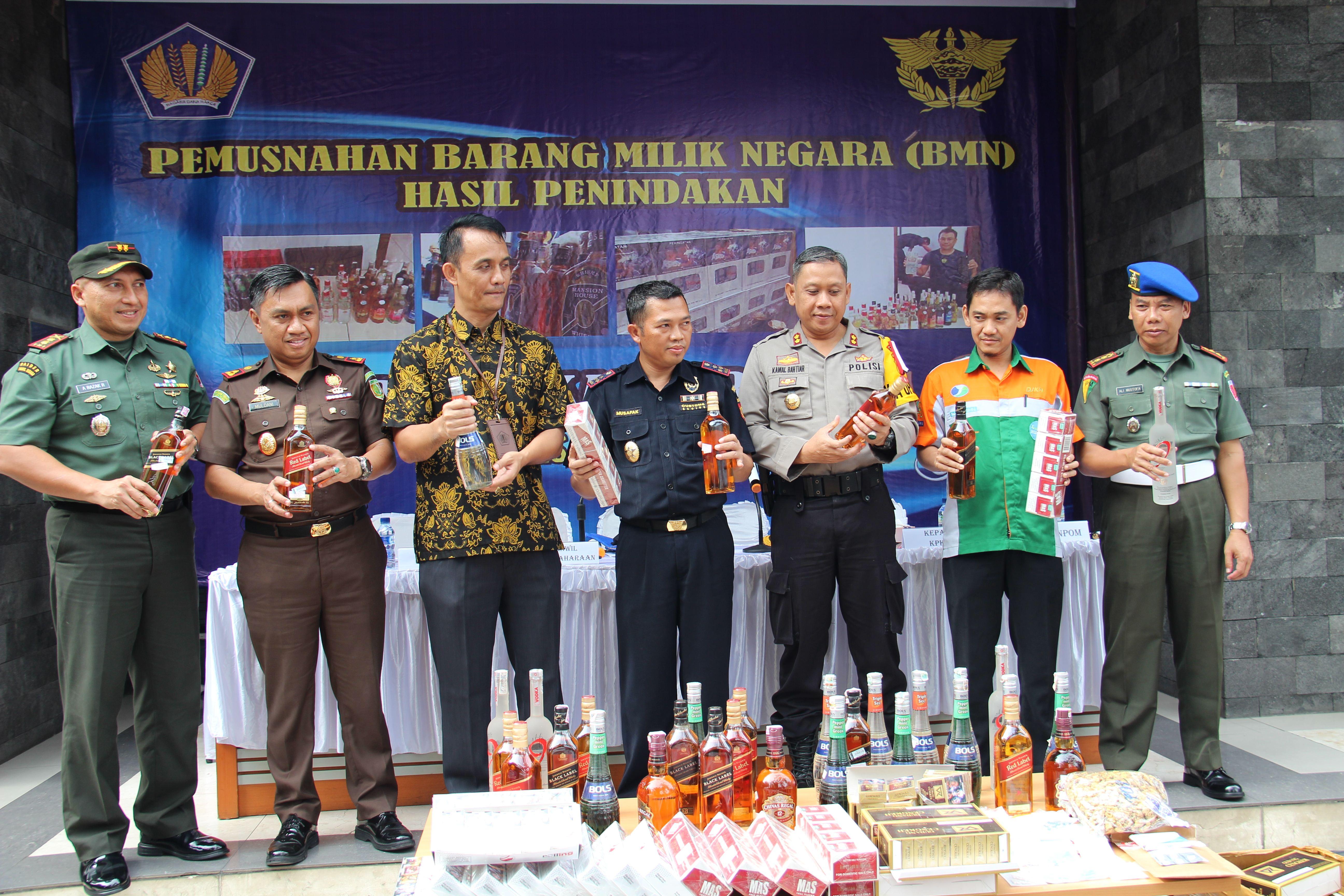 Pemusnahan BMN Hasil Penindakan KPPBC Ternate