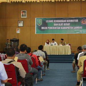 KPKNL Singkawang Laksanakan Lelang Kendaraan dan Alat Berat Pemerintah Kabupaten Sambas
