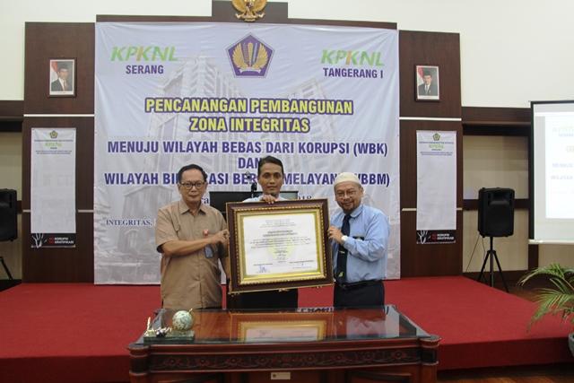 Pencanangan Pembangunan Zona Integritas menuju Wilayah Bebas Korupsi dan Wilayah Birokrasi Bersih Melayani KPKNL Tangerang I