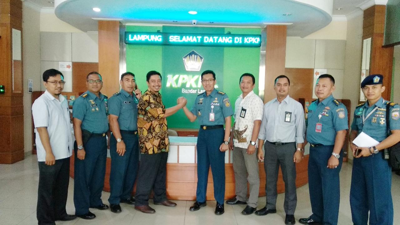 Bahas Pengelolaan BMN, KPKNL Bandar Lampung Dikunjungi Pejabat Mabes AL