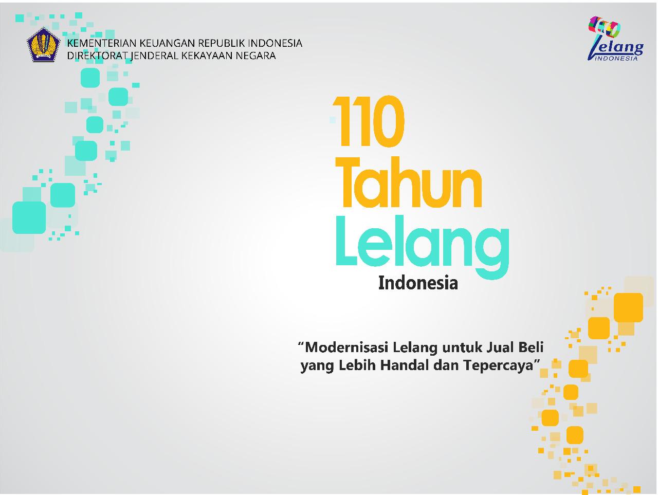 110 Tahun Lelang