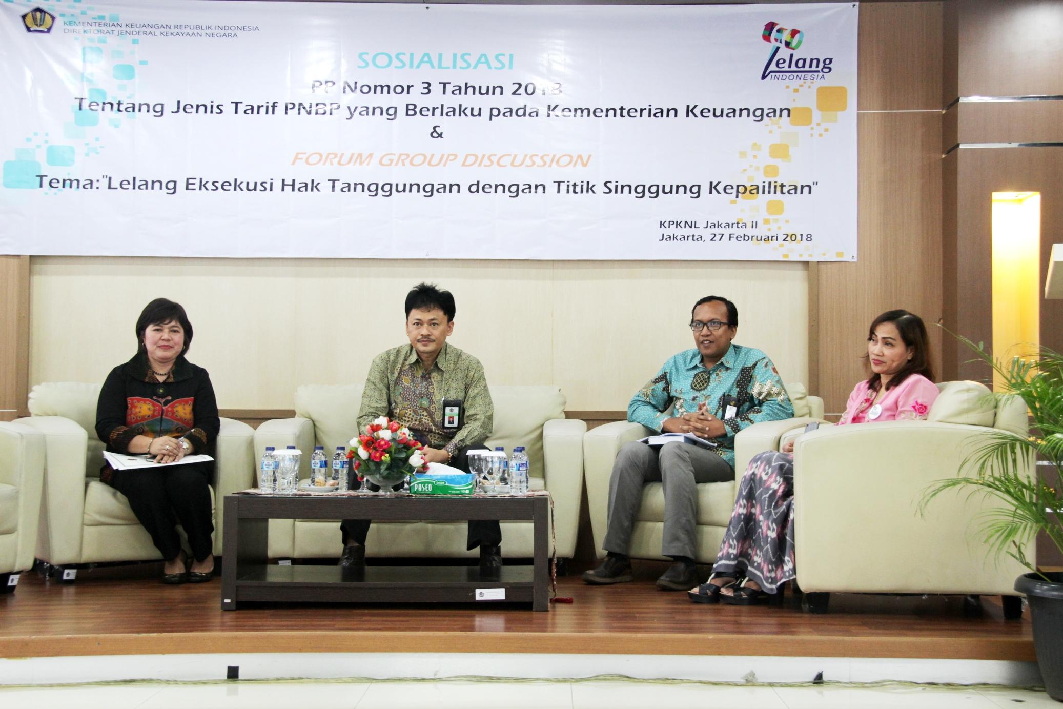 Peringati 110 Tahun Lelang, Kanwil dan KPKNL Jakarta II Adakan Sosialisasi dan FGD