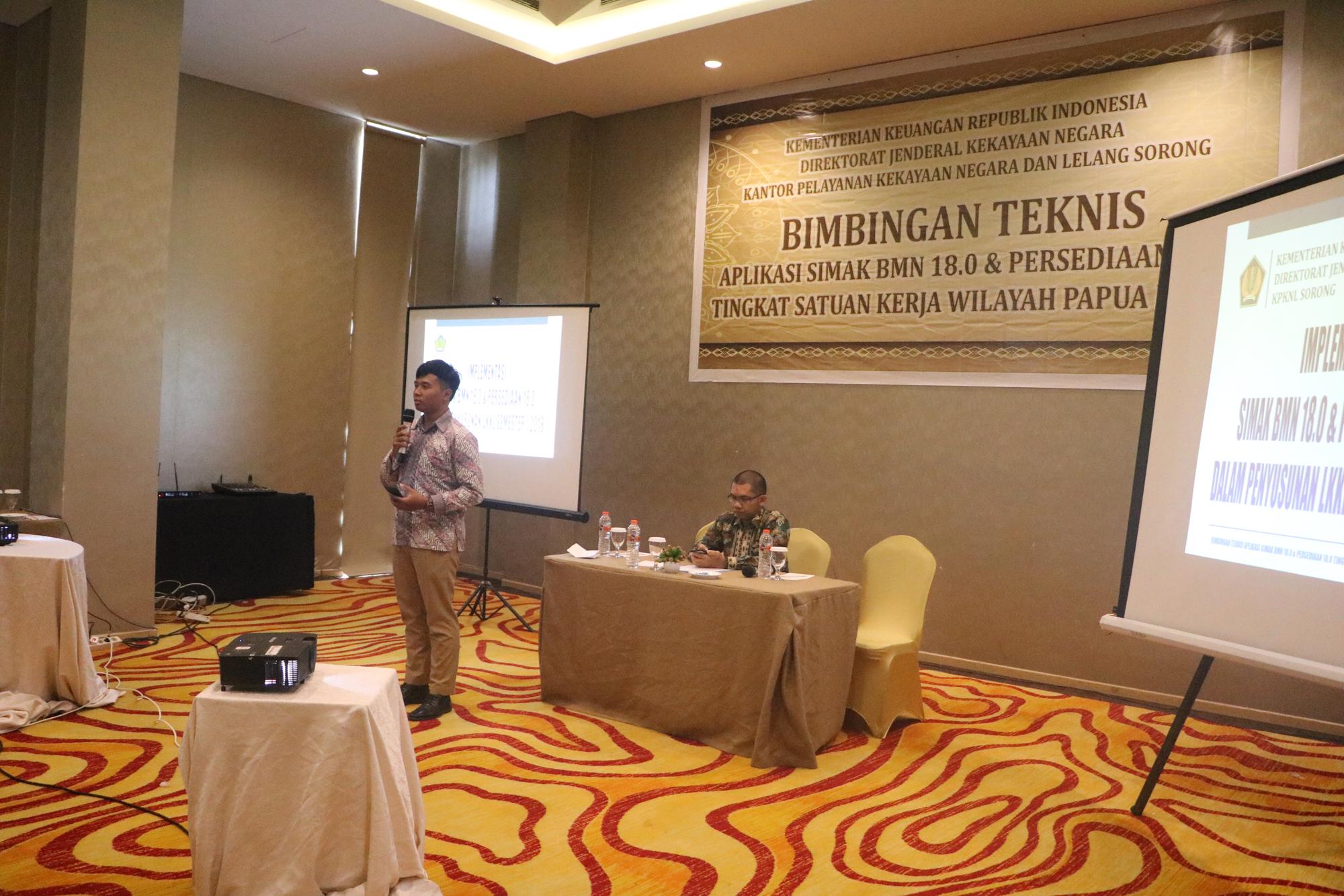 Bimbingan Teknis Aplikasi SIMAK BMN 18.0 dan Persediaan 18.0 Tingkat Satker Wilayah Papua Barat