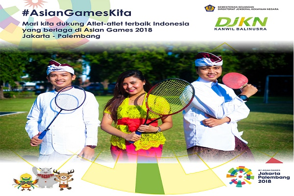 Dari Bali untuk Asian Games 2018, Jakarta-Palembang