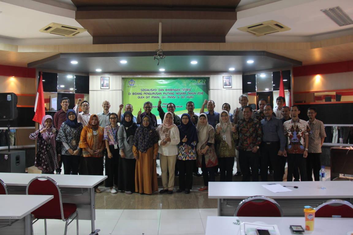 Sosialisasi dan Bimbingan Teknis di Bidang Pengurusan Piutang Negara  pada Kanwil DJKN Jawa Timur