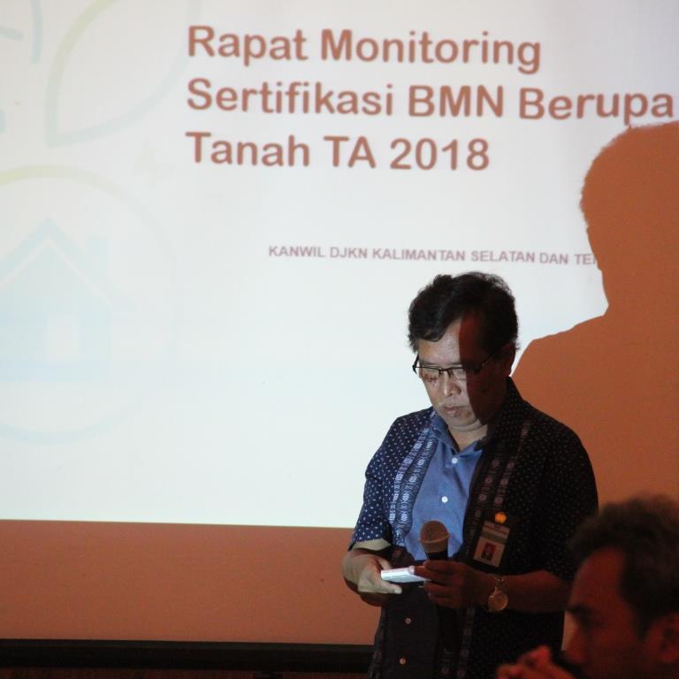 Rapat Koordinasi Percepatan Sertifikasi Berupa Tanah Wilayah Kerja Kanwil Djkn Kalimantan Selatan Dan Tengah