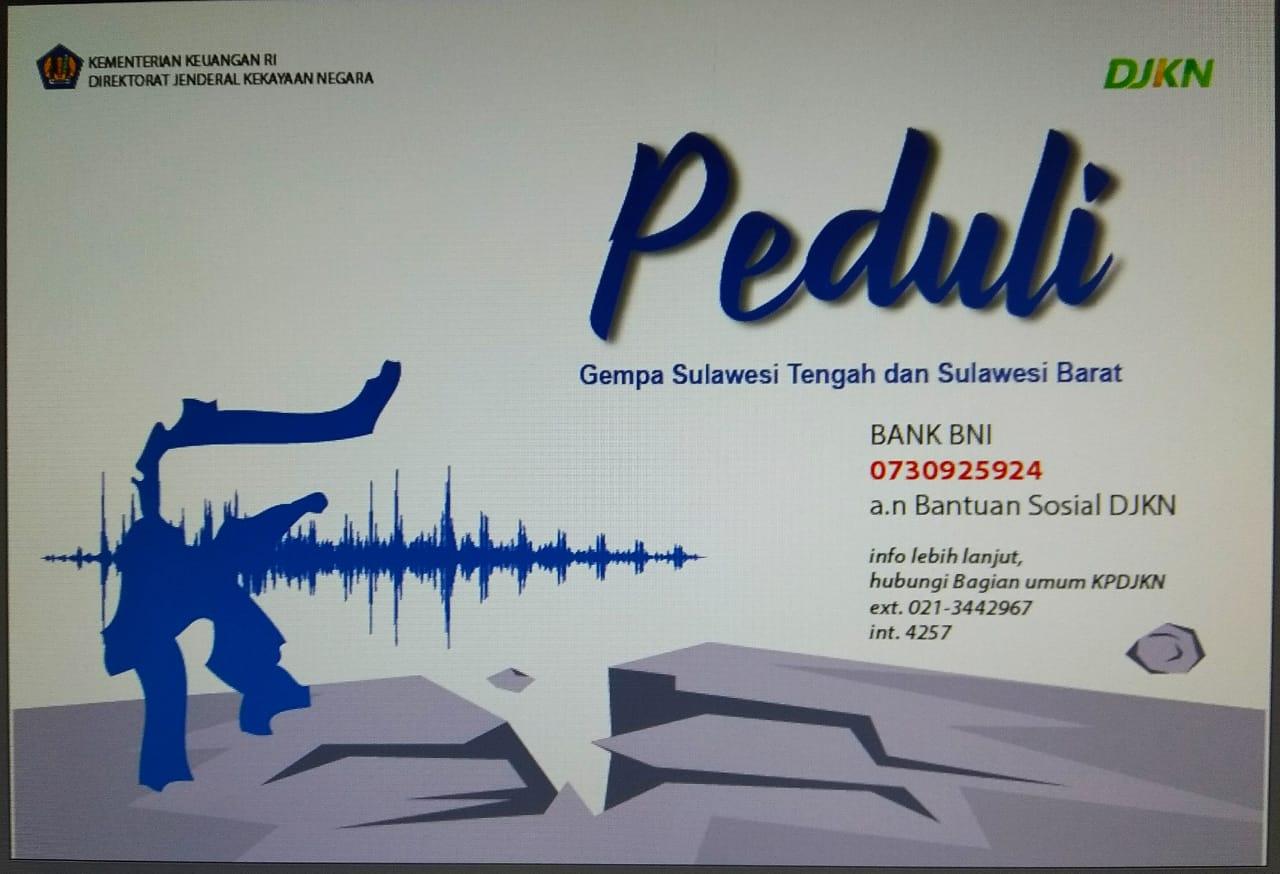 Peduli Gempa Sulawesi Tengah dan Sulawesi Barat