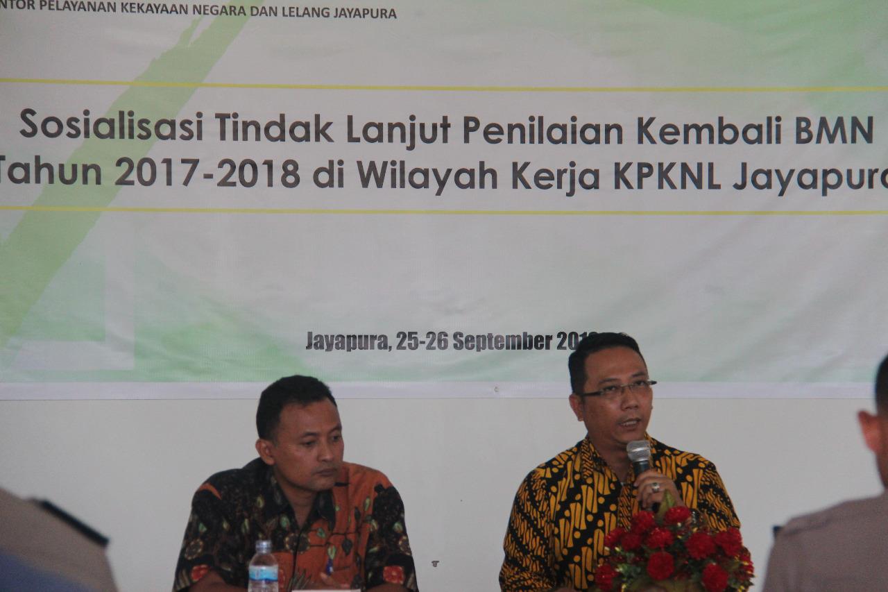 KPKNL Jayapura Gelar Sosialisasi Tindak Lanjut Penilaian Kembali BMN 2017/2018