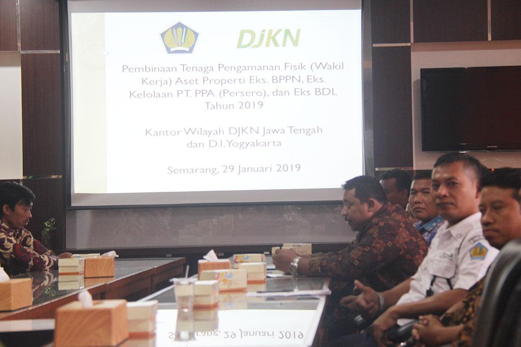 Pembinaan Tenaga Pengamanan Fisik (Wakil Kerja) Aset Properti Eks. BPPN, Eks, Kelolaan PT. PPA (Persero), dan Eks, BDL Tahun 2019