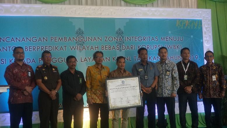 KPKNL Tarakan mengikuti Pencanangan Zona Integritas WBK dan WBBM