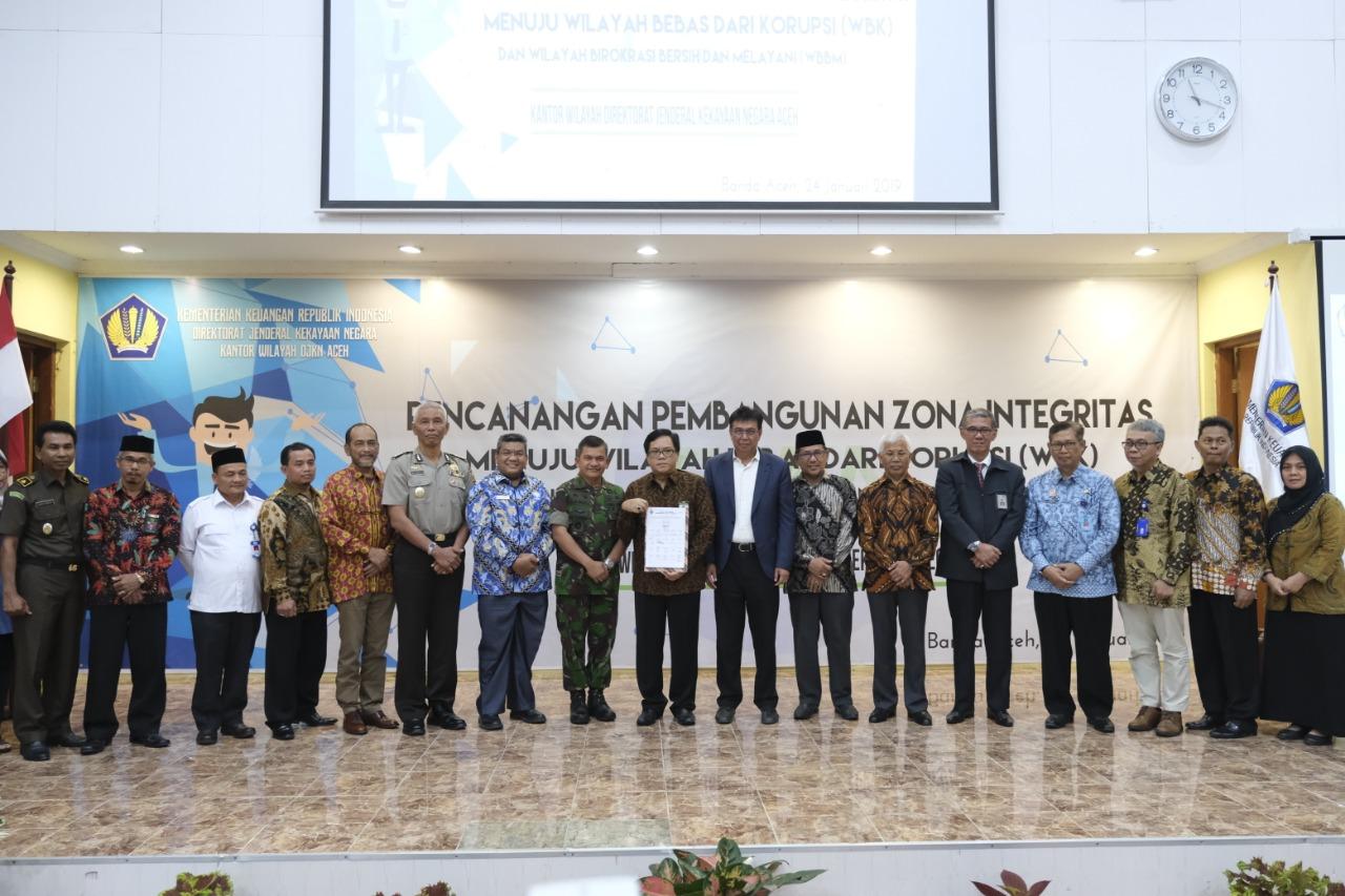 Pencanangan Pembangunan Kanwil DJKN Aceh Menuju WBK/WBBM Tahun 2019
