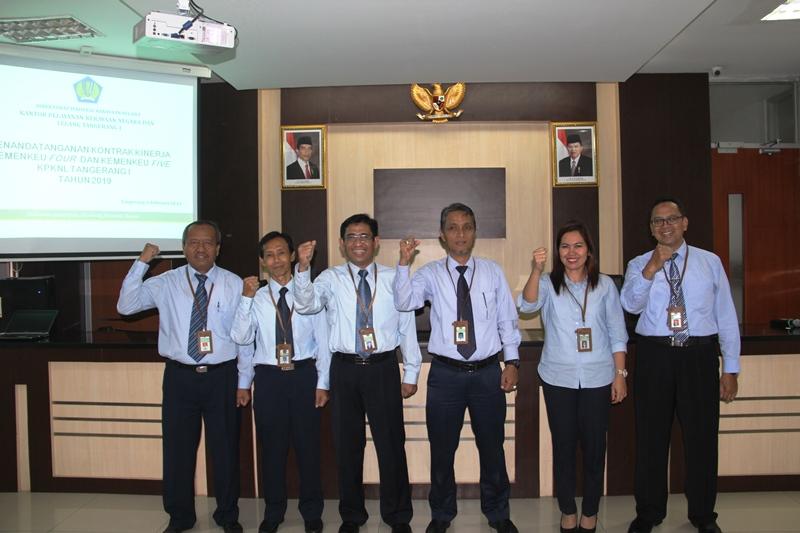 Penandatanganan Kontrak Kinerja KPKNL Tangerang I Tahun 2019