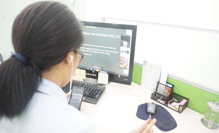 Melalui Video Conference, KPKNL Tarakan Mengikuti Bimbingan Teknis SAKTI