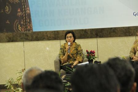 Kunjungi Gorontalo, Menkeu: Cintai Pekerjaan, Jangan Jadikan Sebagai Beban
