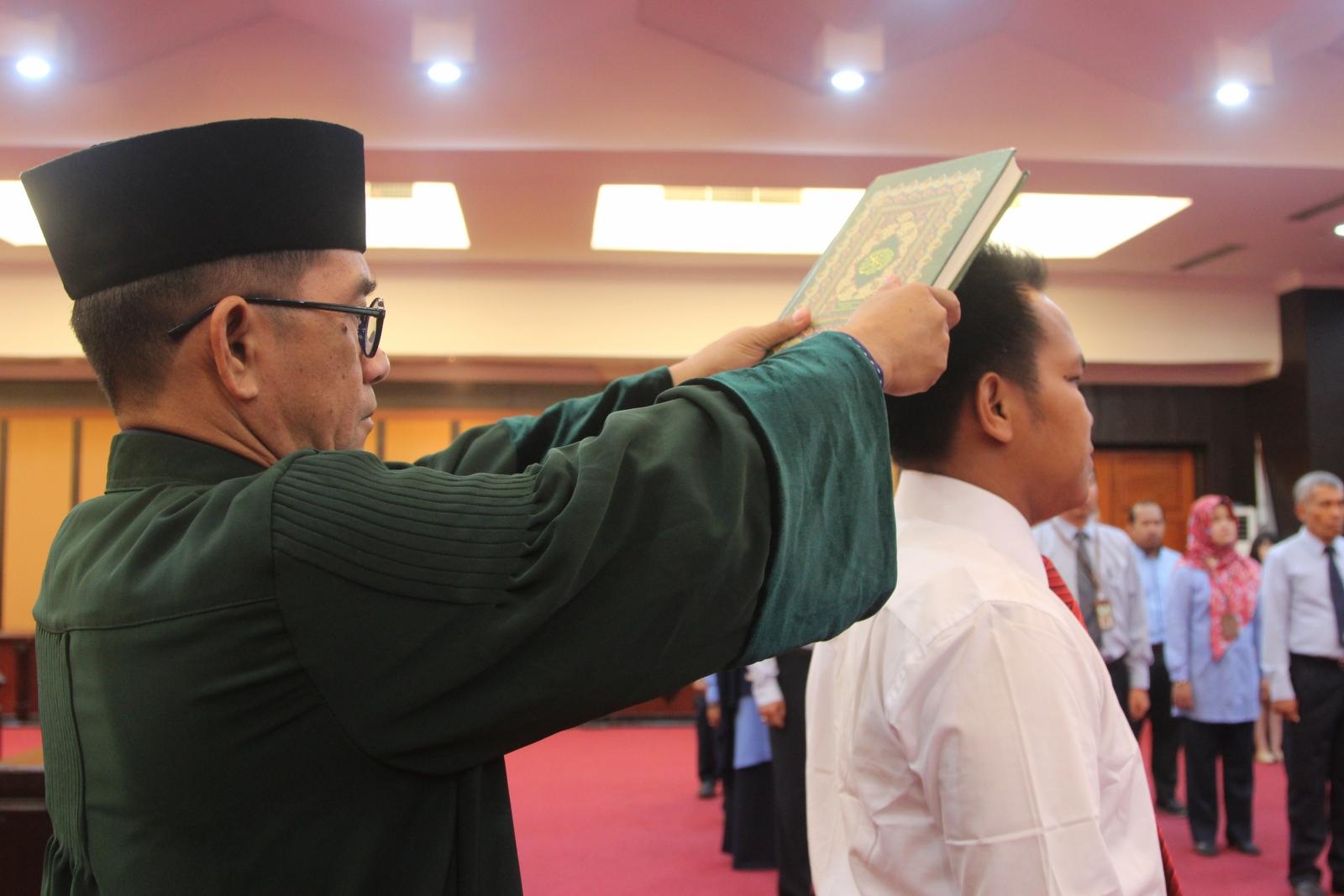 Lantik Pejabat Penilai Pemerintah, Ferdinan Lengkong: Pejabat yang Dilantik Merupakan Ujung Tombak DJKN dalam Penilaian