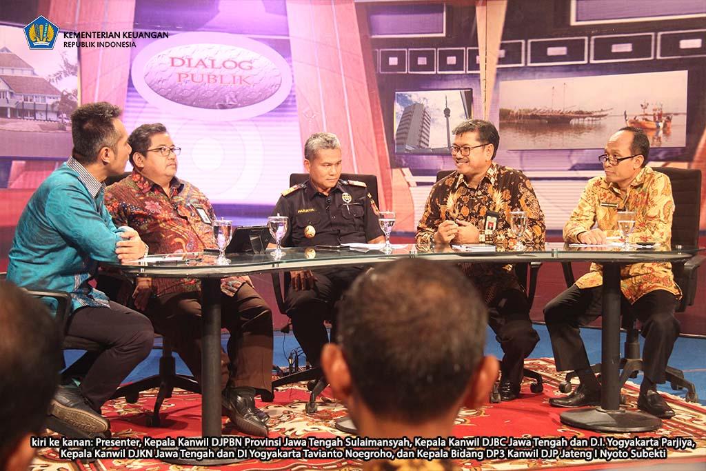 Orkestrasi Unit Vertikal Kemenkeu Jateng Bahas APBN pada Talk Show TVRI Jateng