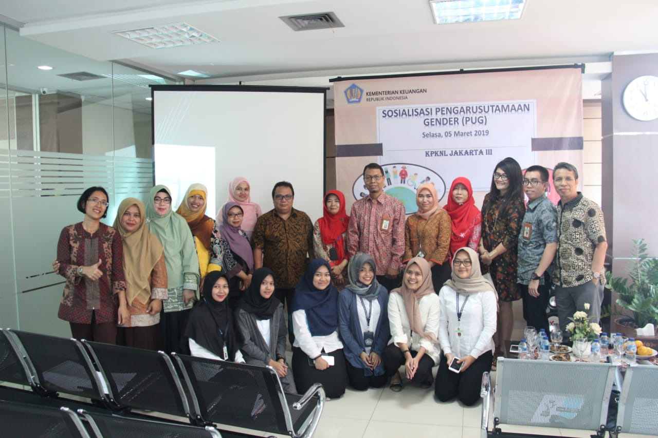 Sosialisasi Pengarusutamaan Gender (PUG) KPKNL Jakarta III, Setara dalam Gender Optimal dalam Kinerja