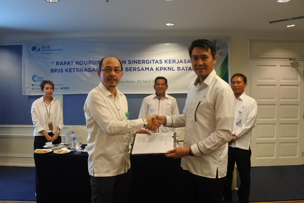 Rapat Koordinasi dan Sinergitas Kerjasama BPJS Ketenagakerjaan Bersama KPKNL Batam