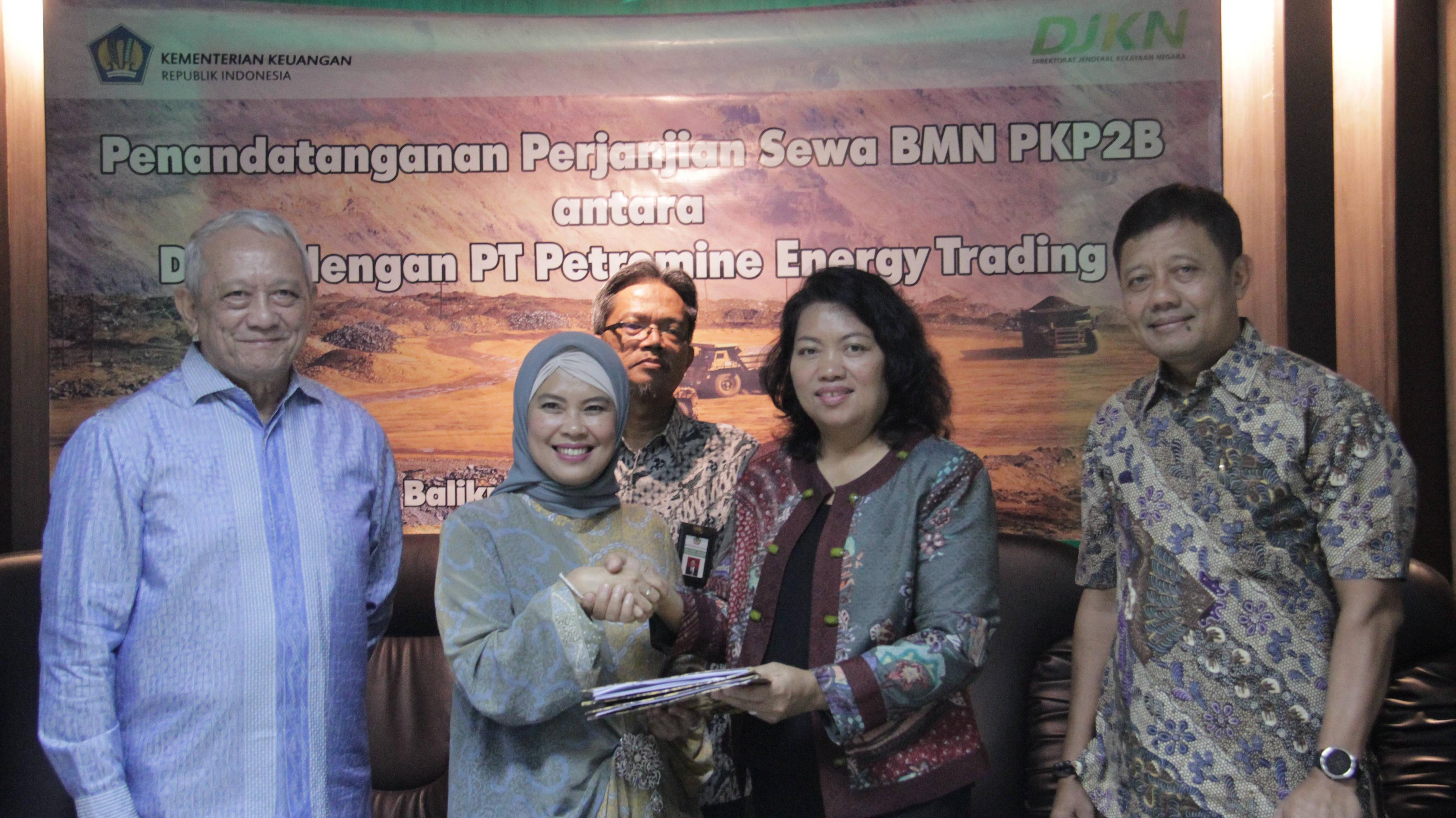 DJKN Tandatangani Perjanjian Sewa BMN dengan PT Petromine Energy Trading