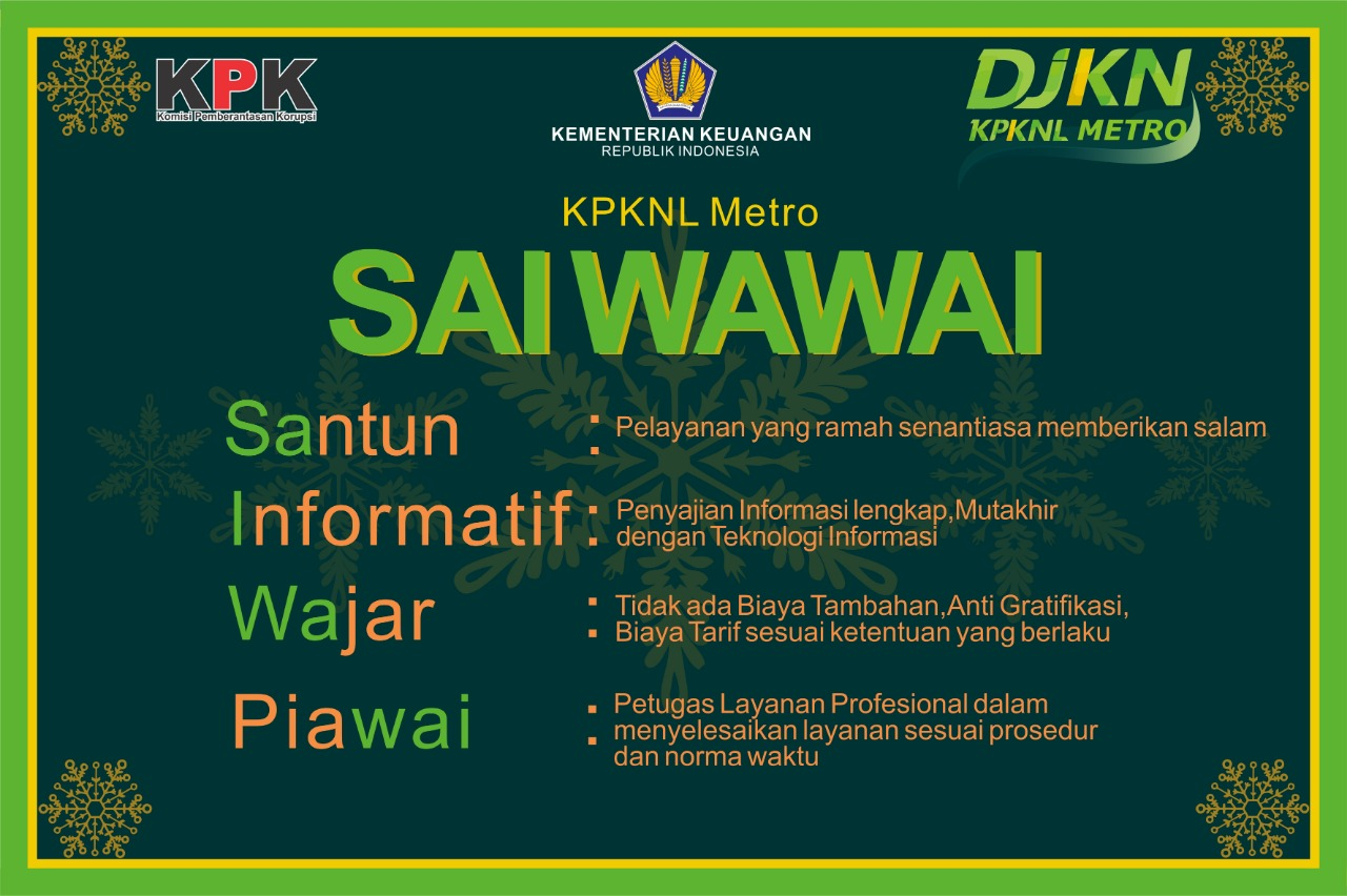 """""""Sai Wawai"""", Komitmen KPKNL Metro Hadirkan Pelayanan Prima"""