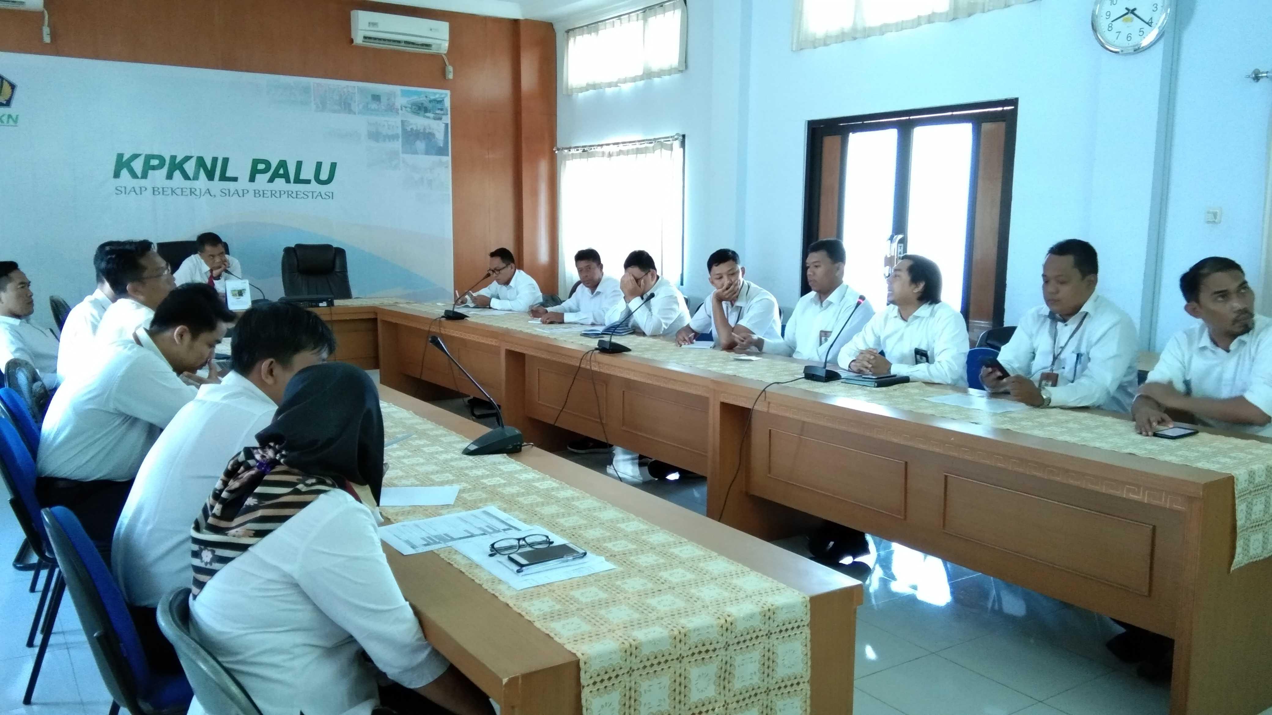 Rapat Dialog Kinerja Organisasi KPKNL Palu Tahun 2019.
