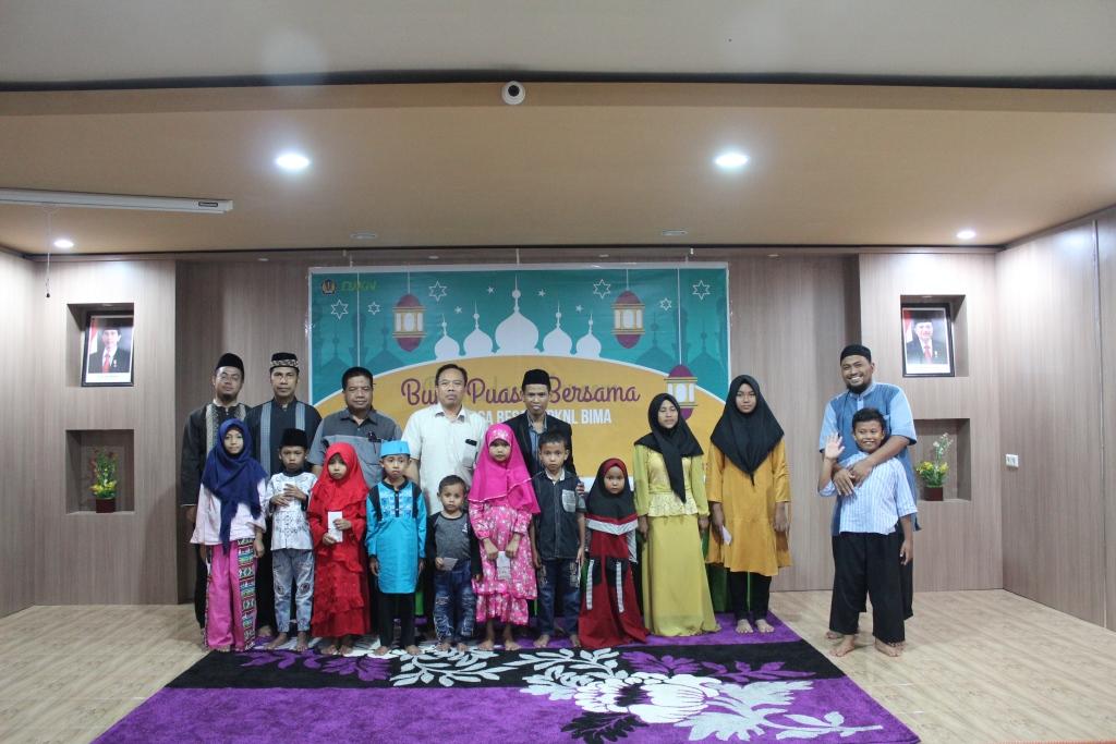 Meraih Taqwa di Bulan Ramadhan, Bintal KPKNL Bima adakan Buka Puasa Bersama dan Santunan untuk Anak Yatim Piatu