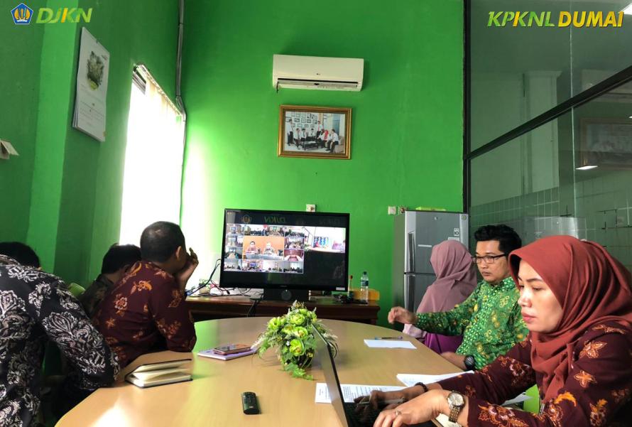 KPKNL Dumai Ikuti Vidcon Re-Revaluasi BMN Bulan Juni 2019