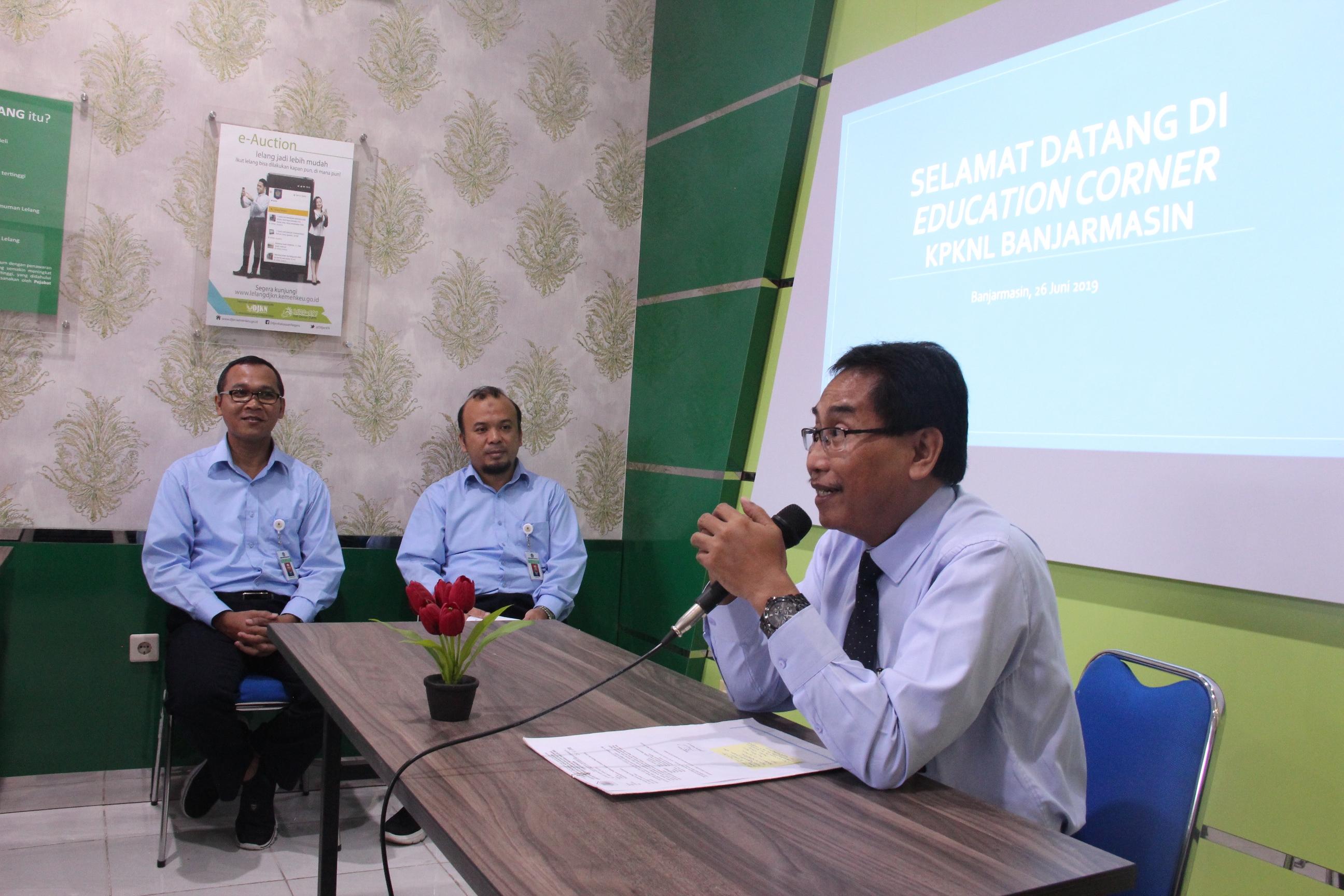 Educorner, Layanan Edukasi KPKNL Banjarmasin