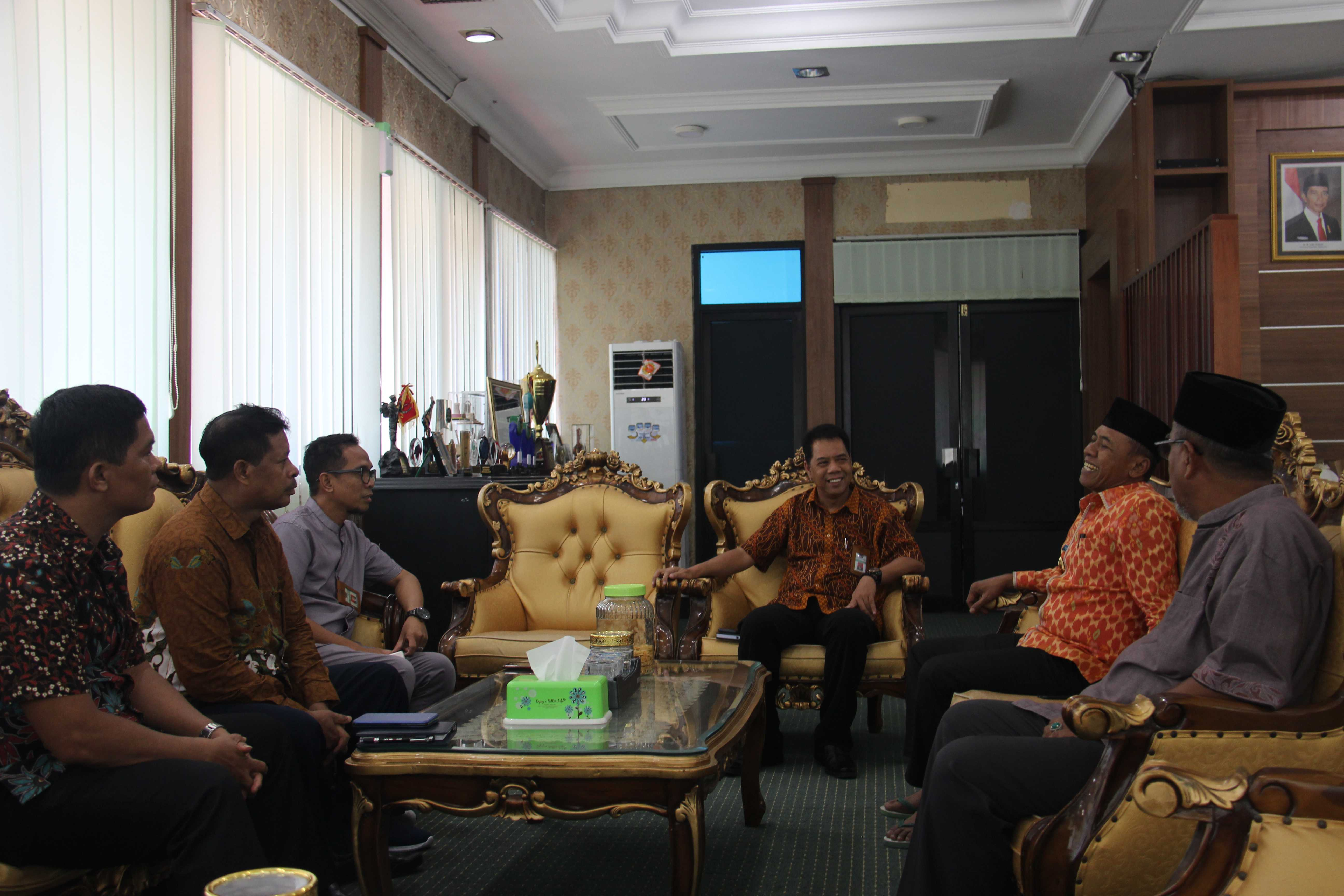 Koordinasi KPKNL Palu Bersama Pemerintah Kota Walikota Palu.