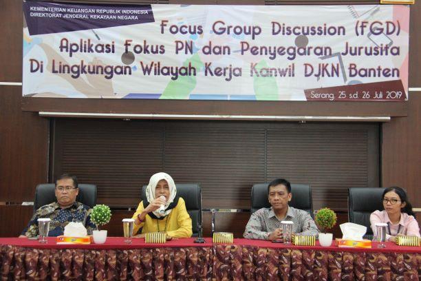 Focus Group Discussion Aplikasi Piutang Negara dan Penyegaran Juru Sita di Lingkungan Kanwil DJKN Banten