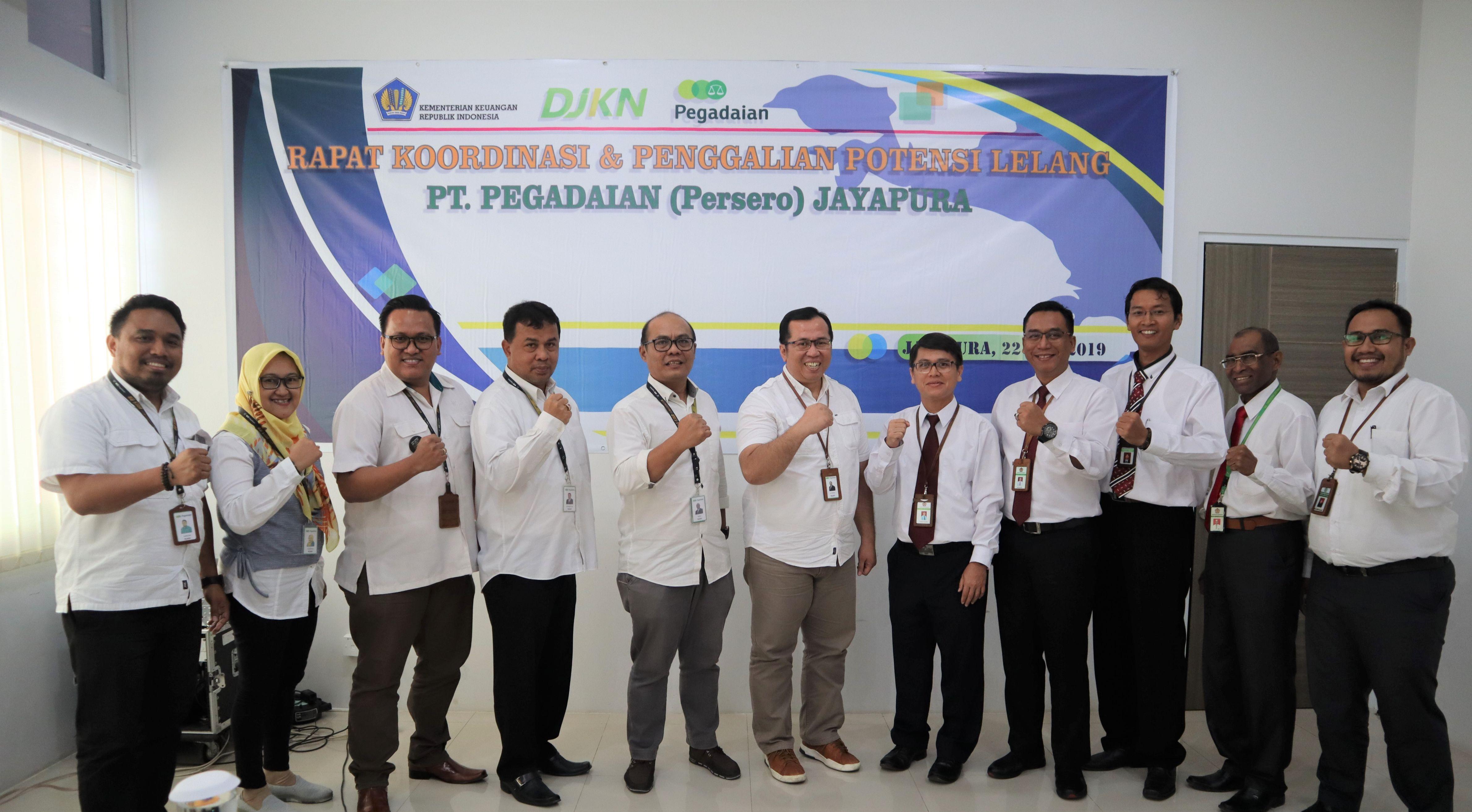 Rapat Koordinasi dan Penggalian Potensi Lelang dengan PT. Pegadaian (Persero)