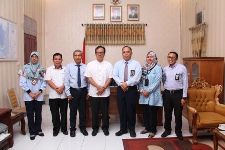Kunjungan Kepala Kanwil DJKN Suluttenggomalut ke Kanwil BPN dan Polda Gorontalo