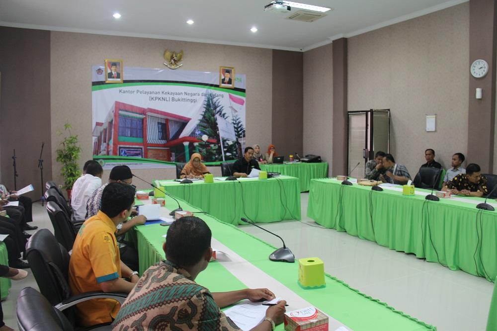 """FGD KPKNL Bukittinggi bersama Pimpinan Cabang Perbankan Wilayah Kerja, """"Pemetaan Objek Lelang dan Potensi Pasar"""""""