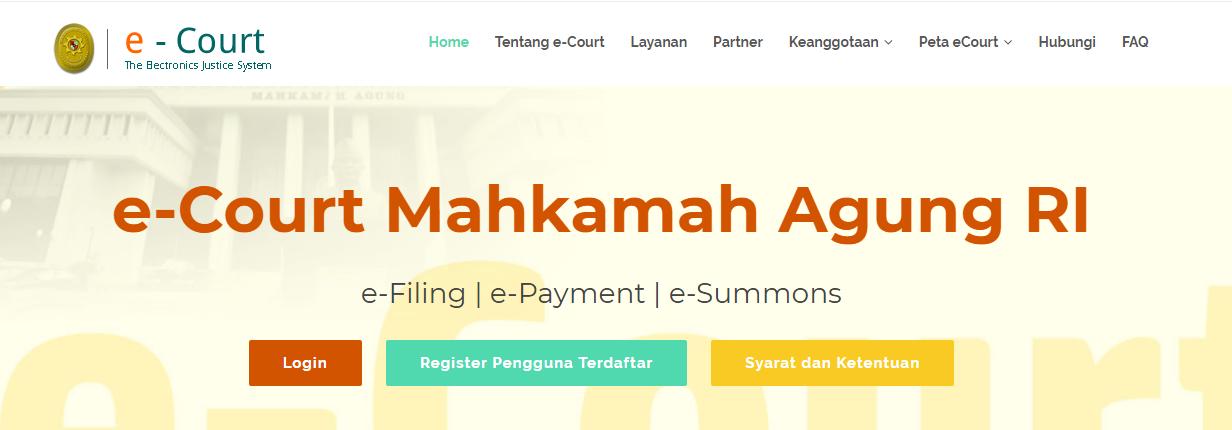E-court, Berperkara Di Pengadilan Secara Elektronik