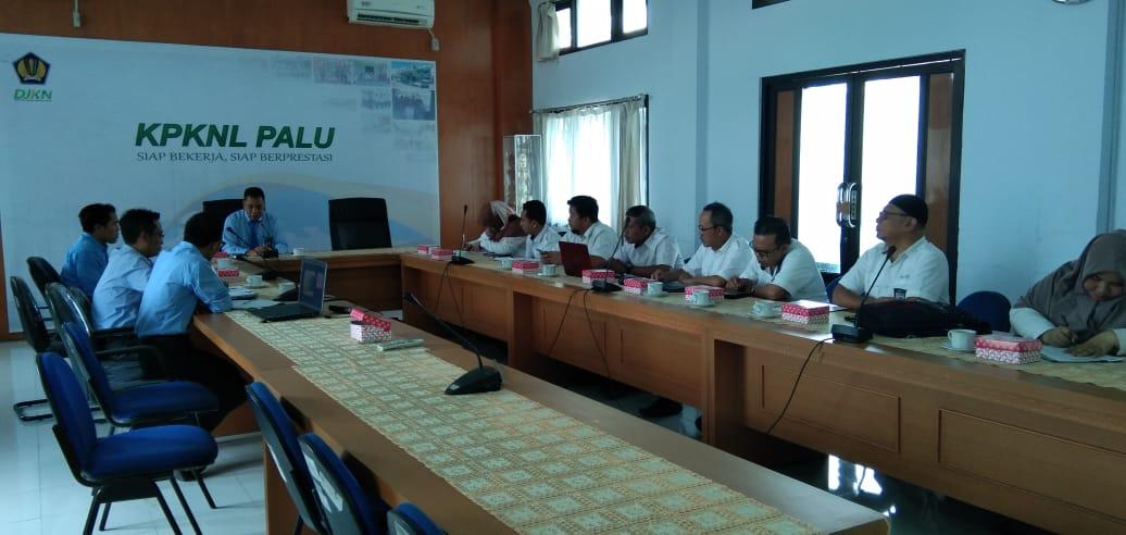 KPKNL Palu Gelar Pertemuan Koordinasi Pemanfaatan BMN Bersama Satker BPJN, PJN I, II, III Wilayah Sulawesi Tengah.