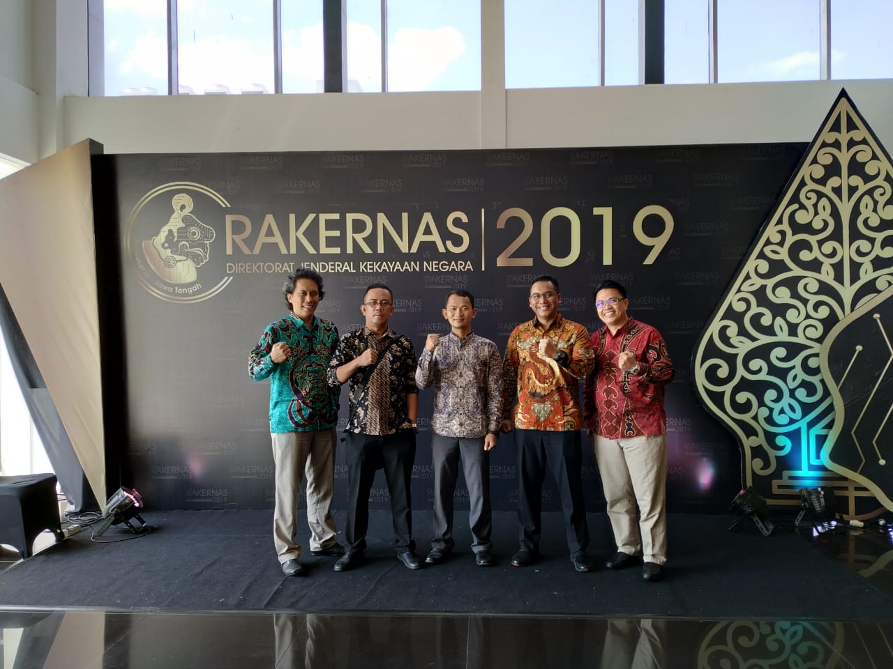 Para Pimpinan Kanwil DJKN Papua, Papua Barat, dan Maluku Menghadiri Rakernas DJKN 2019 di Jawa Tengah