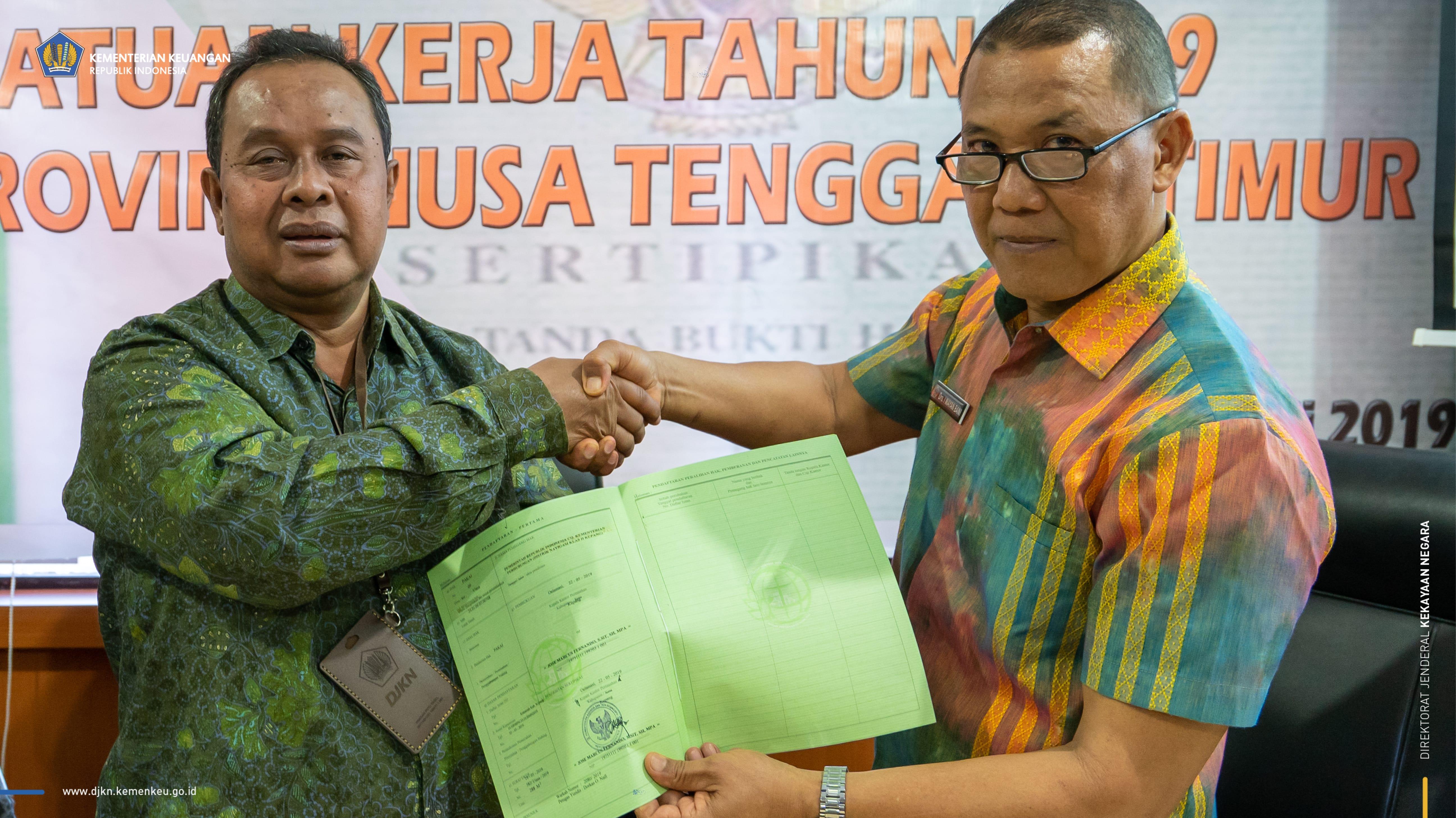 340 Bidang Tanah BMN di Nusa Tenggara Timur Ditargetkan Sertifikasi Tahun 2020