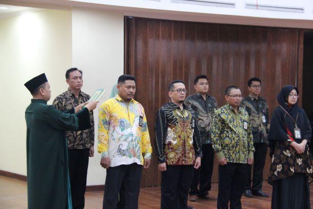 Pelantikan Pejabat Pengawas dan Pejabat Lelang Kelas I di lingkungan Kantor Wilayah DJKN Banten