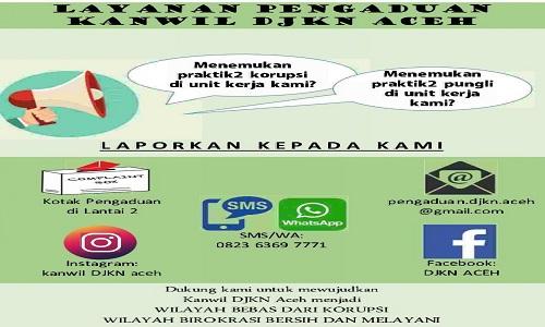 Layanan Pengaduan Masyarakat Kanwil DJKN Aceh