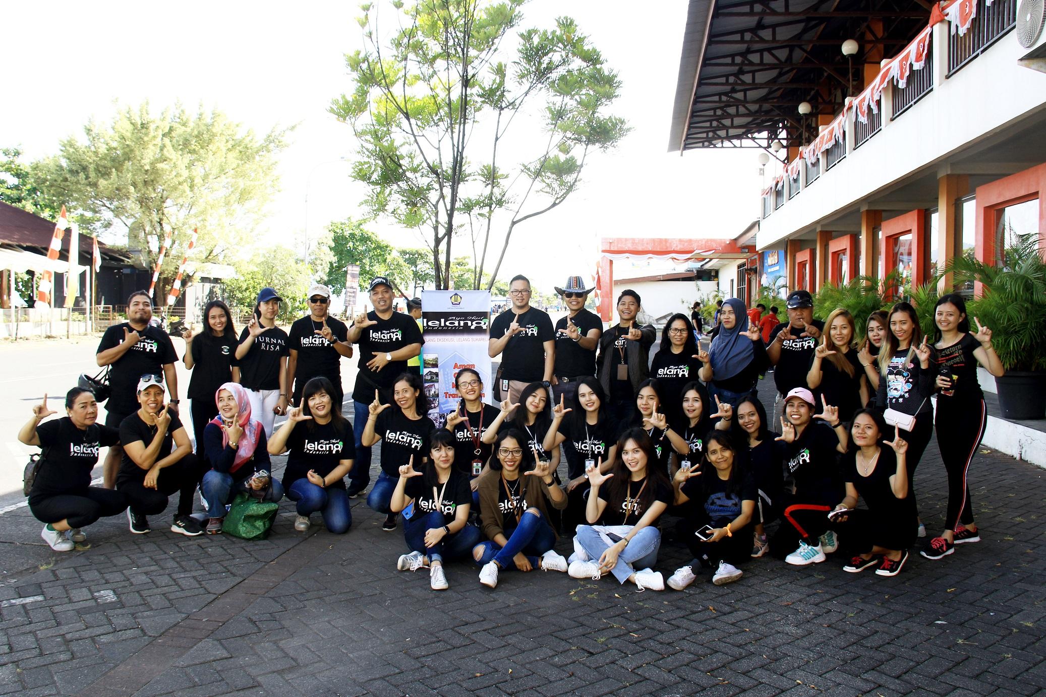 """Tingkatkan Partisipasi Lelang, Kanwil dan KPKNL Manado Adakan """"Car Free Day Auction Campaign"""""""