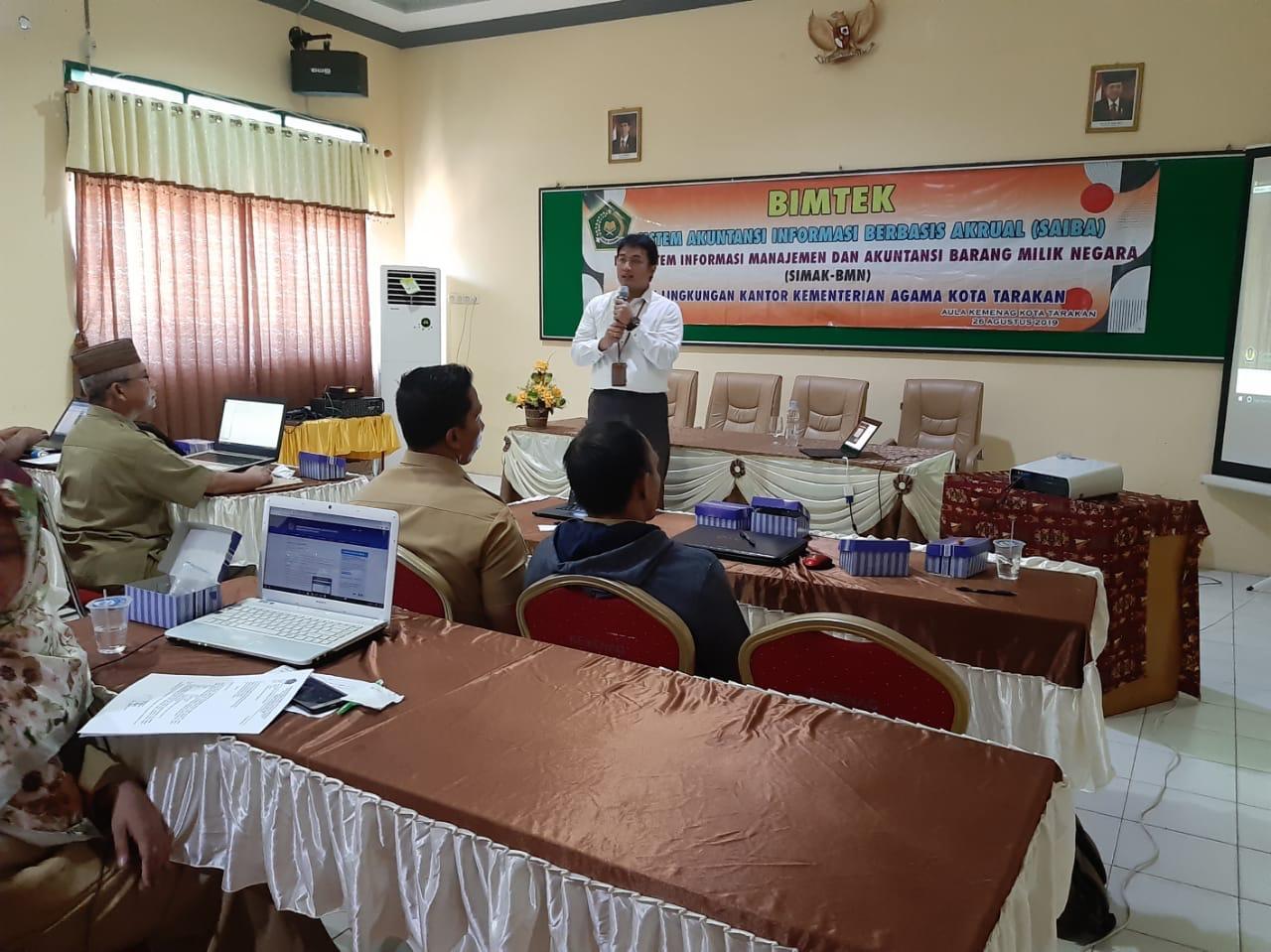 Berbagi Ilmu SIMAK – BMN dengan Kantor Kementerian Agama Kota Tarakan