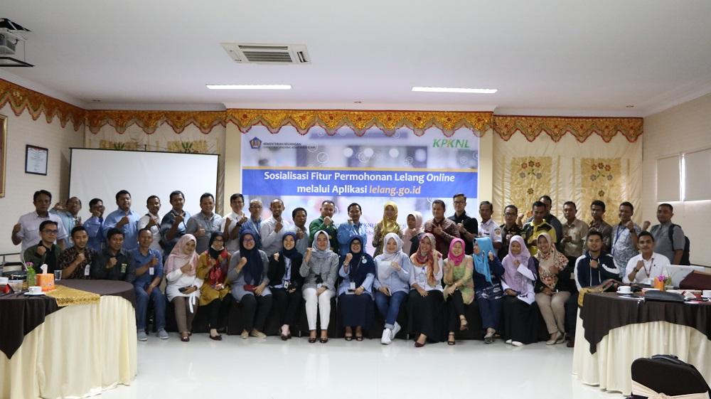 KPKNL Bukittinggi Sosialisasikan Permohonan Lelang Daring Ke Pengguna Jasa