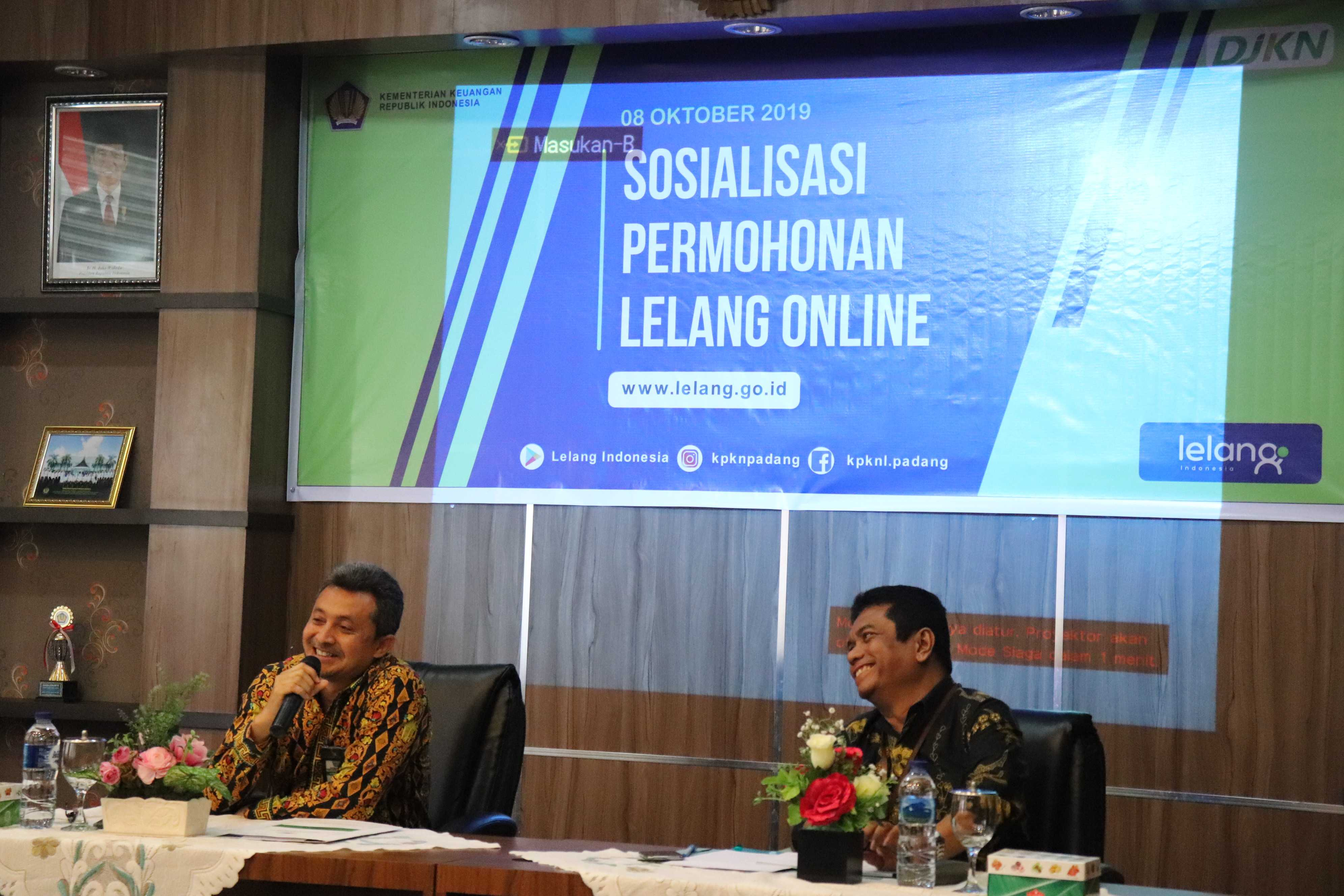 KPKNL Padang Sosialisasi Permohonan Lelang Online dengan Perbankan